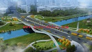 前海景观桥工程(6)号桥Qianhai scenery Bridge Project No. 6 Bridge 本项目位前海合作区,建设内容包括前海6号桥道路工程、桥梁工程、交通工程、市政管线工程等。6号桥桥长164m,桥梁为预应力砼变截面鱼腹式连续箱梁,跨径摆设为44+80+44m,桥梁50m。