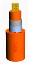 道路车辆用高压电缆_AC 1000VDC 1500V单芯屏蔽高压电缆(AC 1000VDC 1500V Single core shielding high-voltage cable)