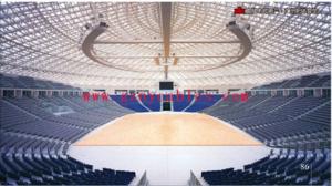"""广州新体育馆Guangzhou gymnasium 广州体育馆是为""""中国第九届运动会""""建设的一座现代化综合性多功能体育设施,是""""九运会""""体操、篮球等项目的比赛地和盛大的闭幕式举办地。它是广州市新世纪的重点、标志性建筑。 广州体育馆位于广州新广从公路原白云苗圃地段,项目占地约24万平方米,其中约8万平方米作体育馆建设用地,6万平方米作体育公园,8万平方米作运动员村,2万平方米为市政规划道路。项目总建筑面积约17万平方米。"""