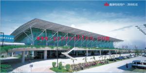 深圳宝安国际机场 Shenzhen Bao'an International Airport 深圳机场是指深圳宝安国际机场(IATA代码:SZX,ICAO代码:ZGSZ ),于1991年正式通航,1993年成为国际机场,位于广东省深圳市宝安区。该机场是一个具有海、陆、空联运的现代化航空港,是世界百强机场之一、中国六大机场之一。深圳宝安国际机场作为中国大陆第六大航空港,目前开通107条国际国内航线,可到达80余个国内国际都会和地区,是中国珠江三角洲地区重要的空运基地之一。